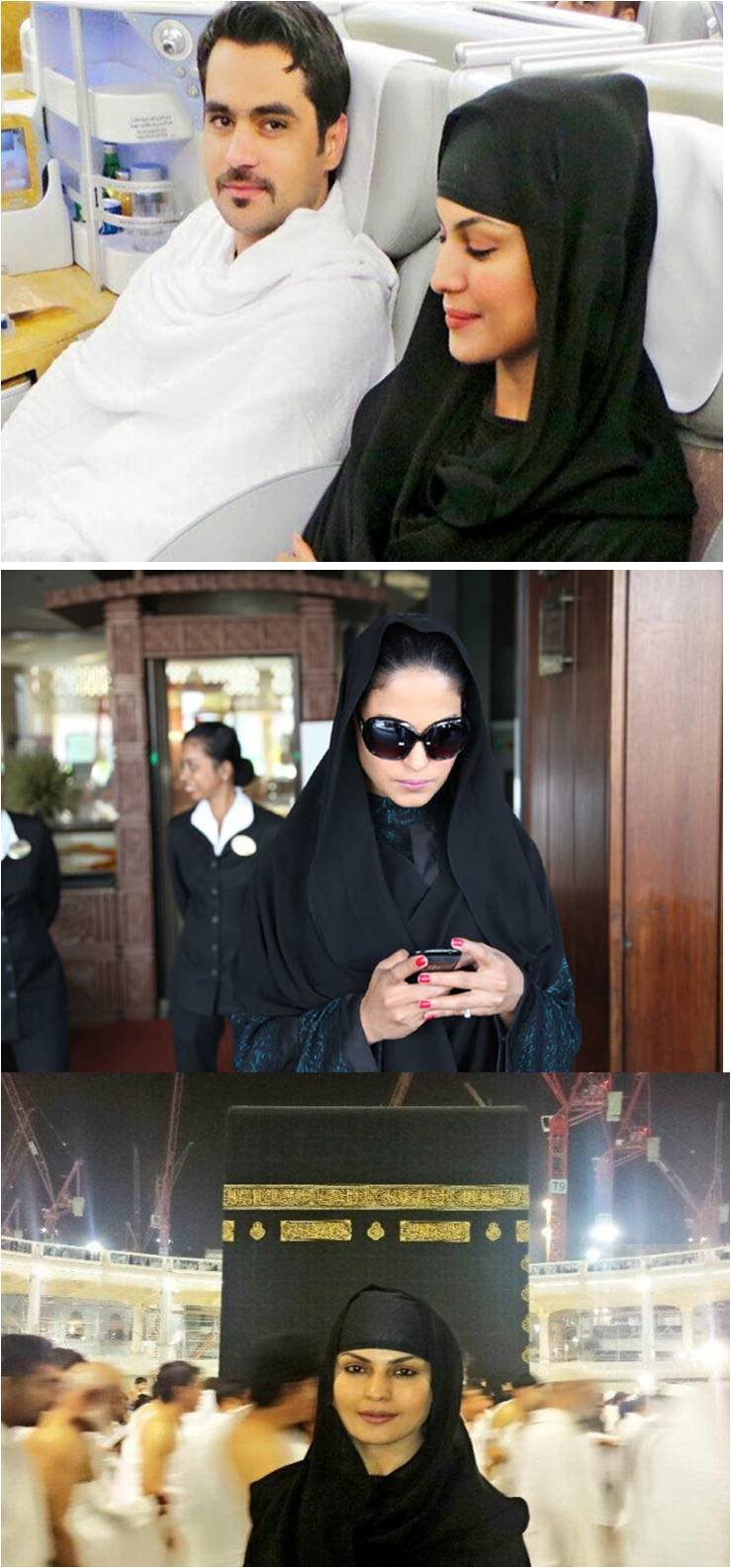 ممثلة التعري فينا مالك veena malik بالعمرة