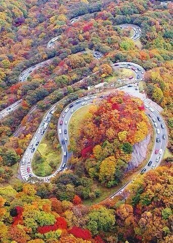 Chaloos Road in Iran is one of the most beautiful and colourful Roads on Earth