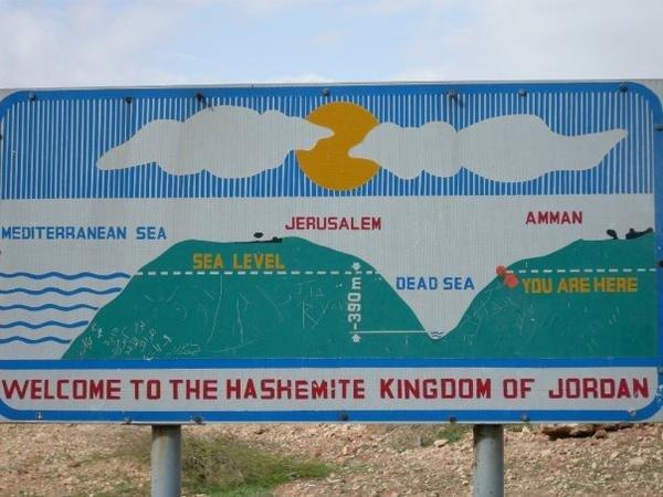 لوحة ارتفاع سطح البحر الميت في #الأغوار #الأردن