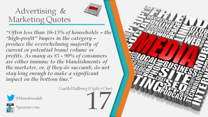 """""""Often less than 10-15% of households – the """"high-profit buyers in the category – produce the overwh"""