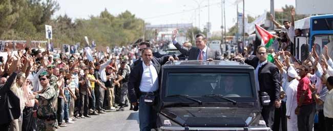 من زيارة جلالة #الملك_عبدالله لمدينة #السلط #الأردن