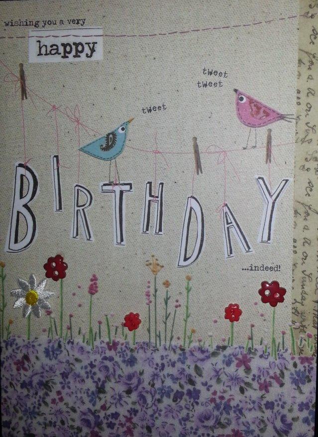 my #twitter birthday card