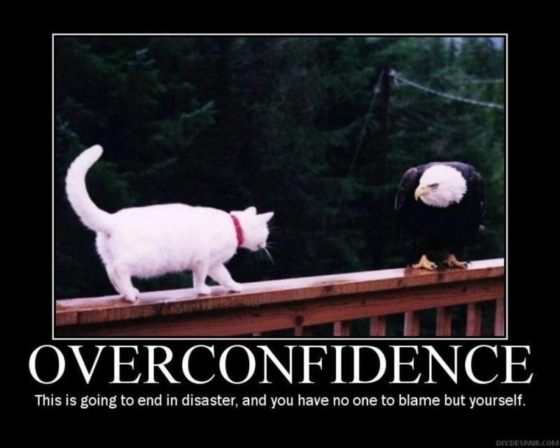 الثقة الزايدة في النفس