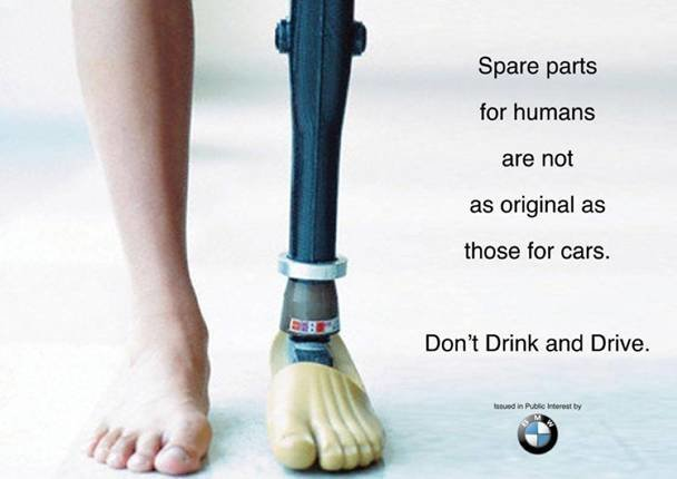 اعلانات مطبوعة مبدعة - حملة BMW - لسلامة السائقين #اعلان
