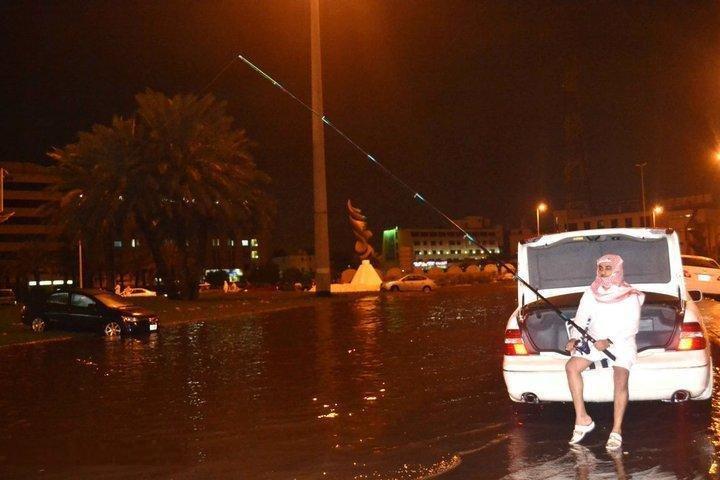 استغلال الفيضانات في السعودية
