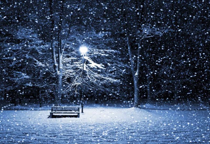 فصل الشتاء في الليل