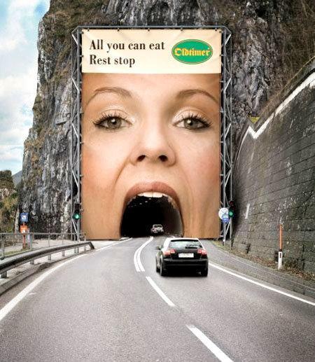 اعلانات مطبوعة مبدعة - مطعم - #اعلان
