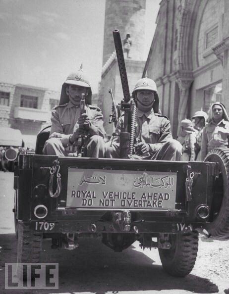 الموكب الملكي في الأردن - القرن الماضي
