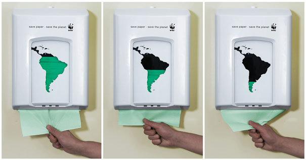 اعلانات مطبوعة مبدعة - توعية بيئية - #اعلان