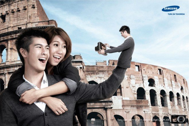 اعلانات مطبوعة مبدعة - كاميرا سامسونج - #اعلان