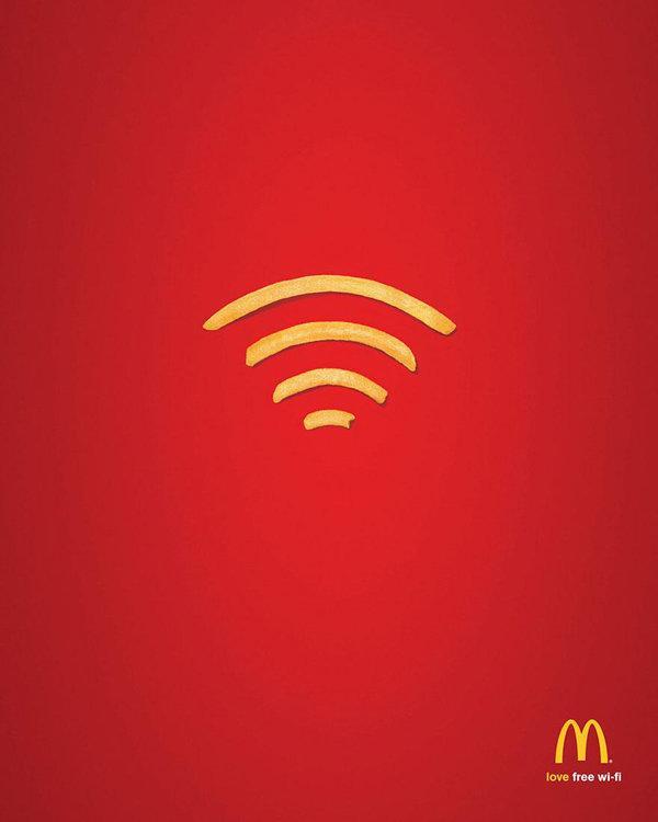 اعلانات مطبوعة مبدعة - ماكدونالدز #اعلان