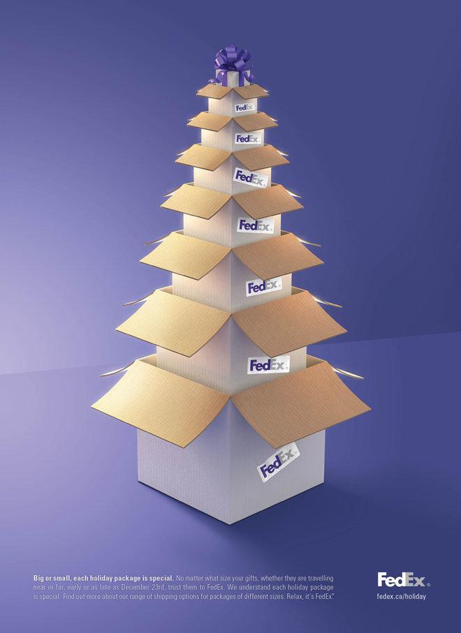 اعلانات مطبوعة لأعياد الميلاد - فيديكس - #اعلان #تسويق