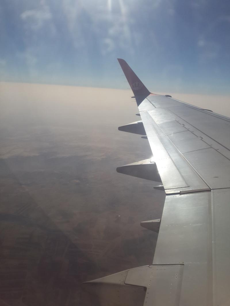 بداية الرحلة إلى القاهرة على متن الملكية الأردنية #مصر_في_صور