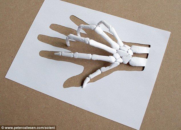 فنان يصنع مجسمات من الورق فقط #ابداع