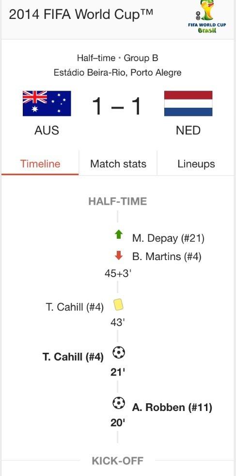 ملخص الشوط الأول مباراة #هولندا_استراليا #كأس_العالم