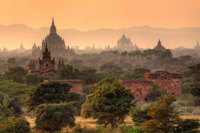 صورة مدينة باجان ال#قديمة - بجمهورية إتحاد ميانمار وهي أحد دول جنوب شرق آسيا.
