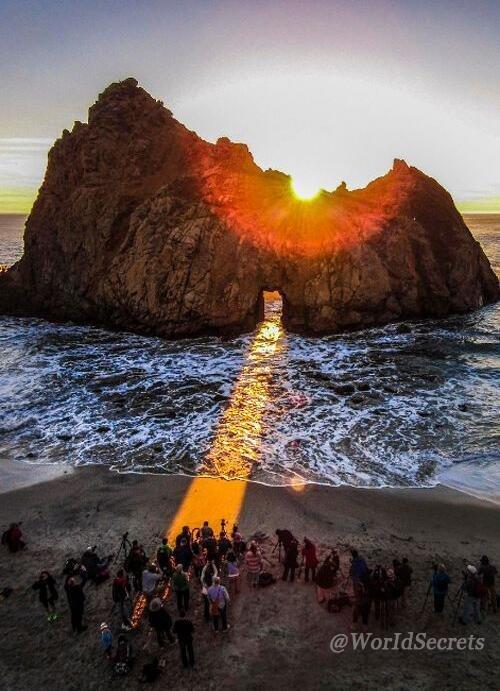 صورة منظر جميل لشروق الشمس في كاليفورنيا.