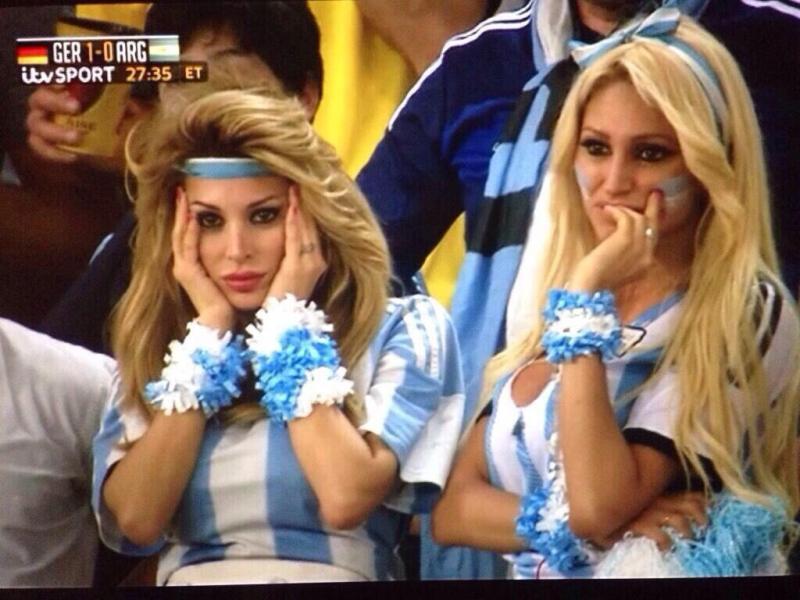 مشجعات الارجنتين بعد هدف المانيا #كأس_العالم