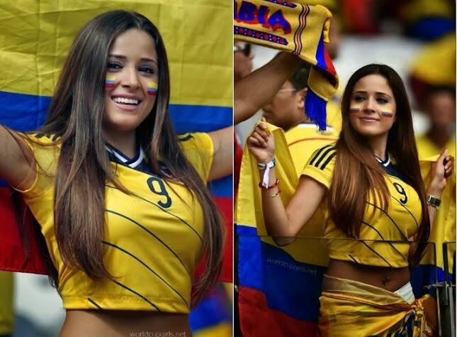 المشجعة التي تم اختيارها كأجمل مشجعات #كأس_العالم