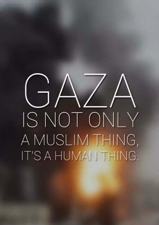 You don't have to be Muslim to care for Palestinians you just have to be a human with a heart #SaveGaza #FreePalestine #GazaUnderAttack Like