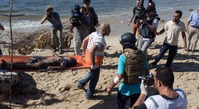 استشهاد اربع اطفال على شاطئ غزة بقصف اسرائيلي #غزة_تحت_القصف