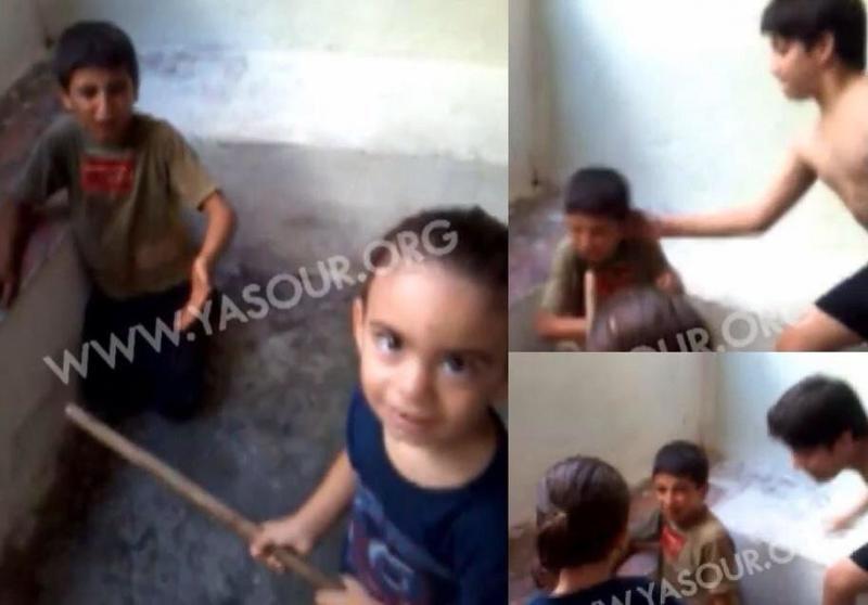 صورة محزنة ومؤسفة #عائلة_لبنانية_تخطف_وتعذب_طفل_سوري