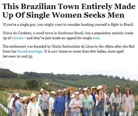 قرية برازيلية يسكنها النساء العازبات فقط