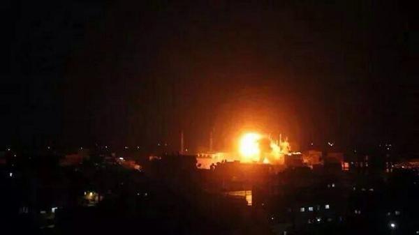 صورة لقصف الاحتلال على #غزة هذه الليلة