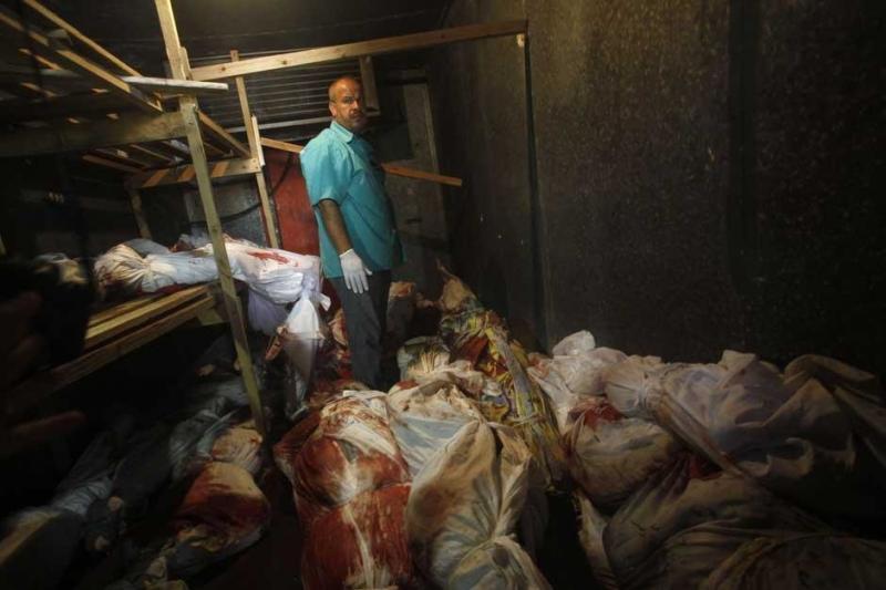 هنا غزة حيث لا مكان يتسع لمن صعدوا للسماء #غزة_تحت_القصف