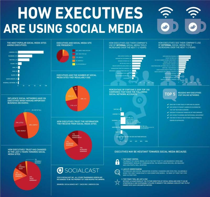 How executives are using social media? #infographic