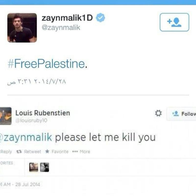 تغريدة لمغنٍ غربي يساند بها #فلسطين تقارب 280ألف ريتويت، يتلقى بعدها تهديدات بالقتل
