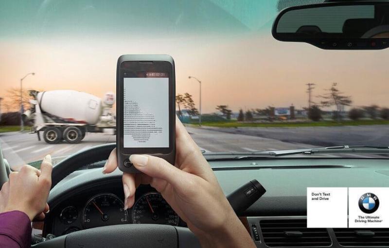 إعلان من BMW عن مخاطر استخدام الجوال أثناء قيادة السيارة