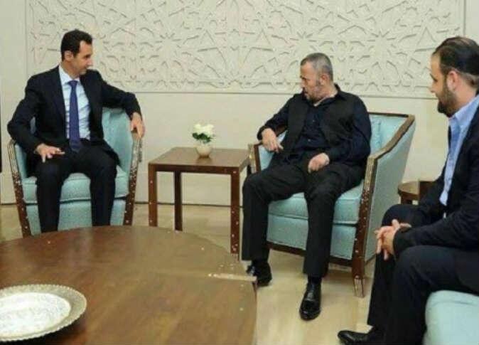 #جورج_وسوف اثناء لقائه #بشار_الأسد #مشاهير