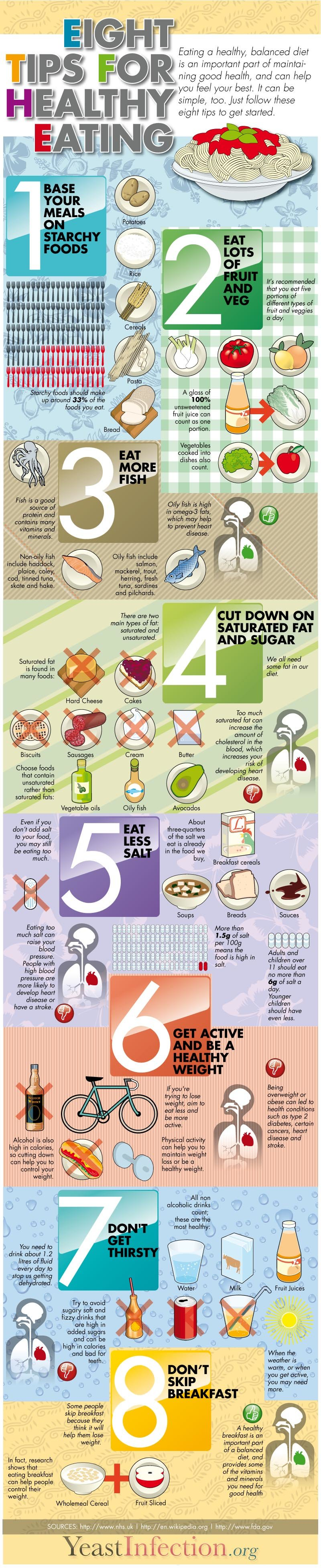 Eight tips for healthy eating #Infographic