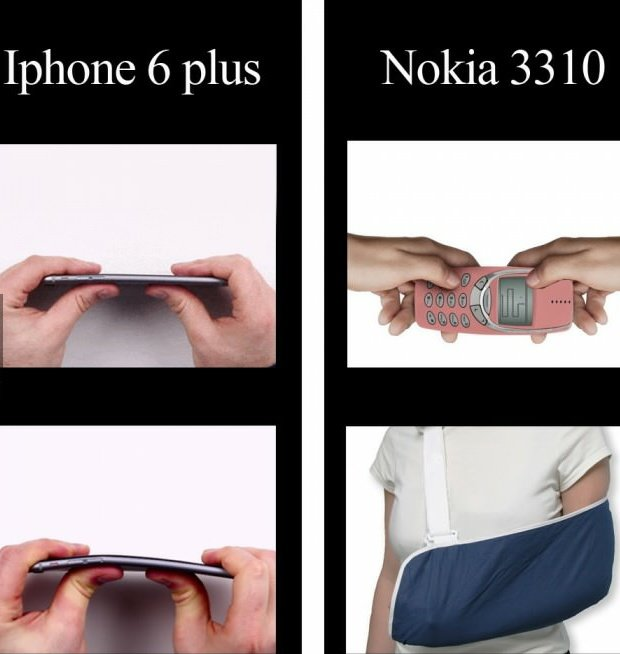 Nokia 3310 Vs. #IPhone6Plus