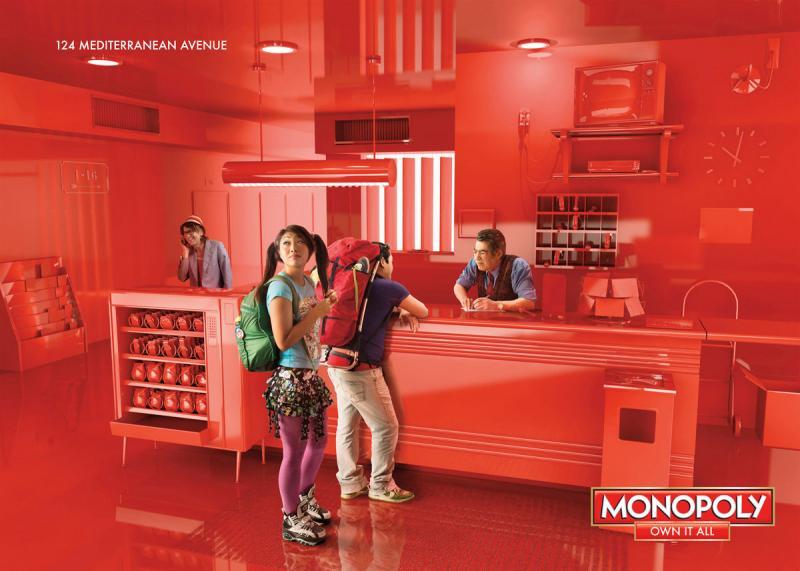 اعلان مطبوع عن لعبة المونوبولي #اعلان #تسويق