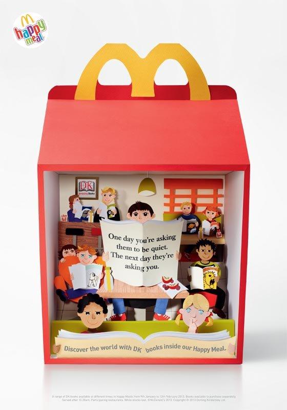 اعلان مطبوع عن وجبات الأطفال لدى ماكدونالدز Happy Meal #اعلان #تسويق