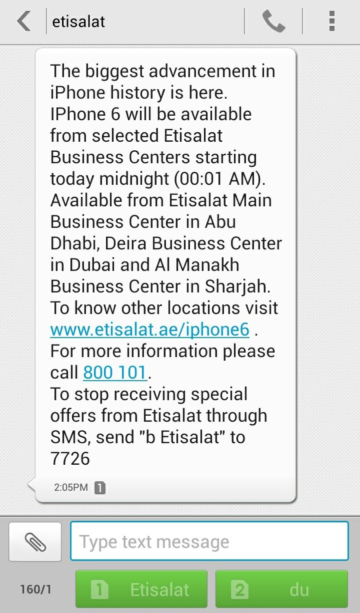 Today is the formal launch day for #IPhone6 in UAE by @etisalat