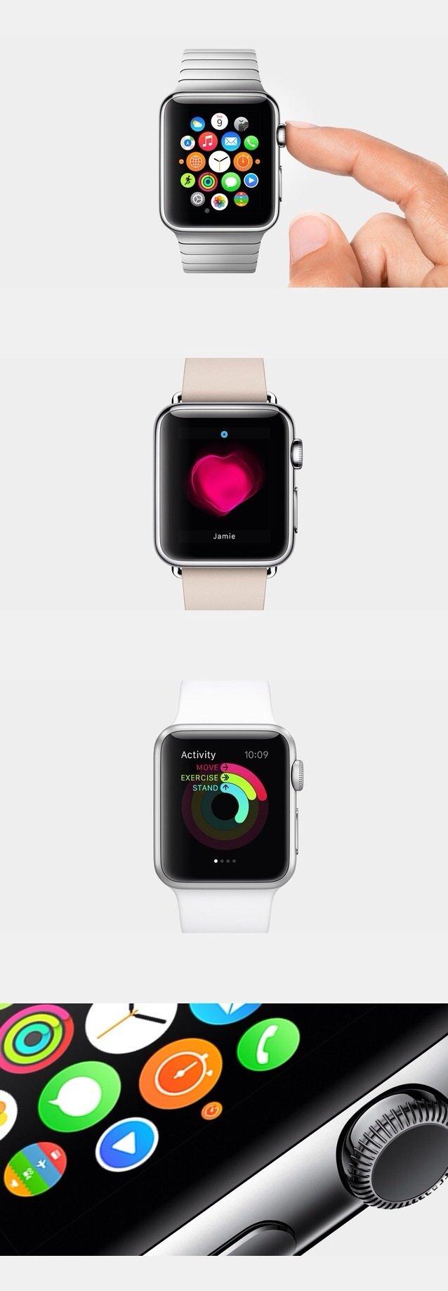 ساعة IWatch من #Apple تسمح بمشاركة نبض قلبك مع من تحب وترصد نشاطاتك اليومية