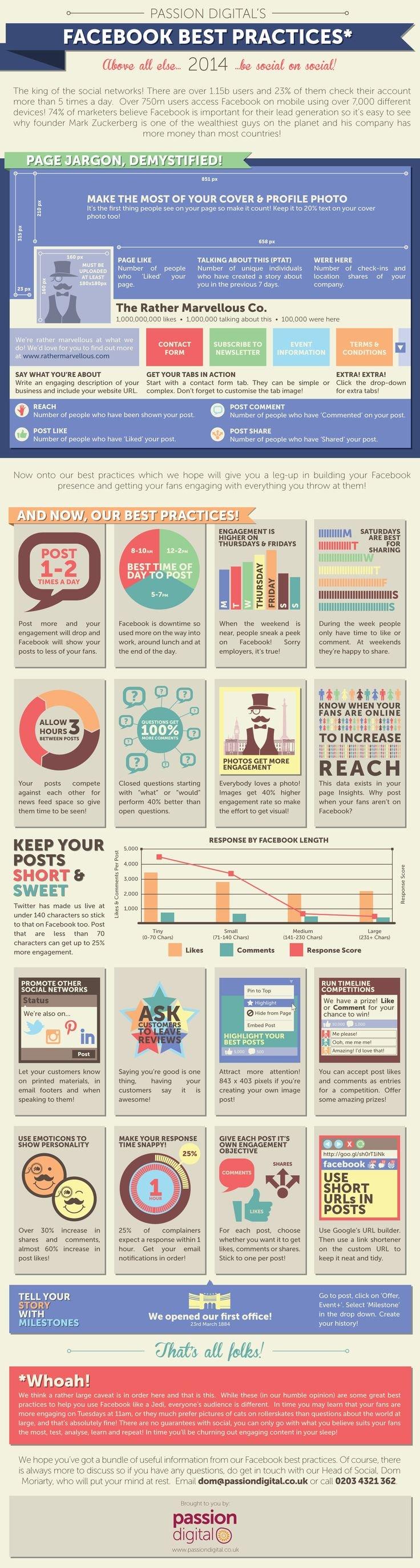 Facebook best practices #infographic