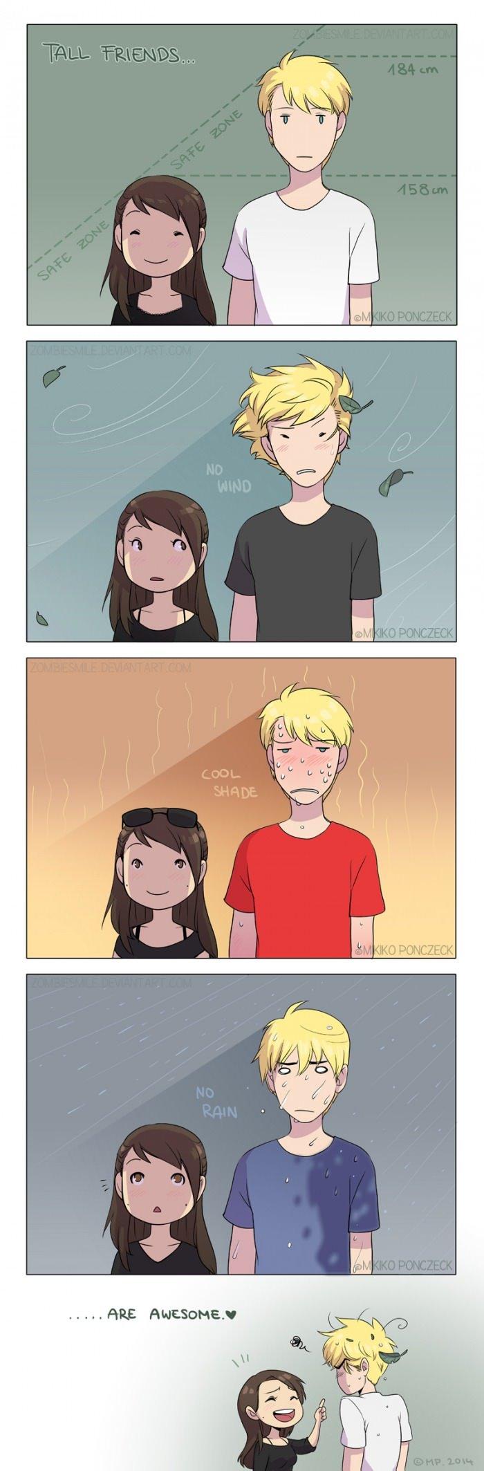 فوائد ان تكون الفتاة قصيرة