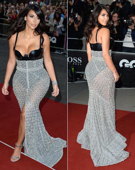 #كيم_كارداشيان في حفل GQ بفستان مثير للجدل #مشاهير 4