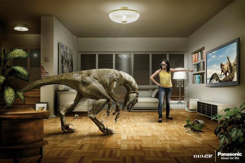 اعلان مطبوع لشاشة باناسونيك ثلاثية الأبعاد #اعلان #تسويق