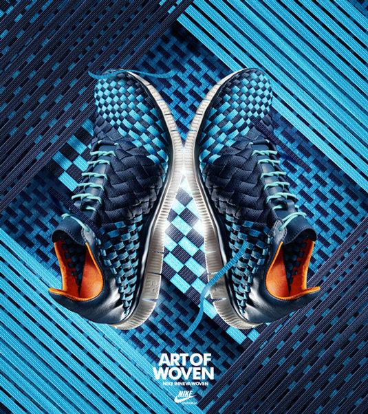اعلان مطبوع لأحذية Nike المحاكة #اعلان #تسويق