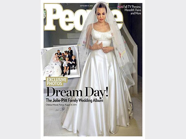 حفل زفافها النجمة العالمية أنجلينا جولي