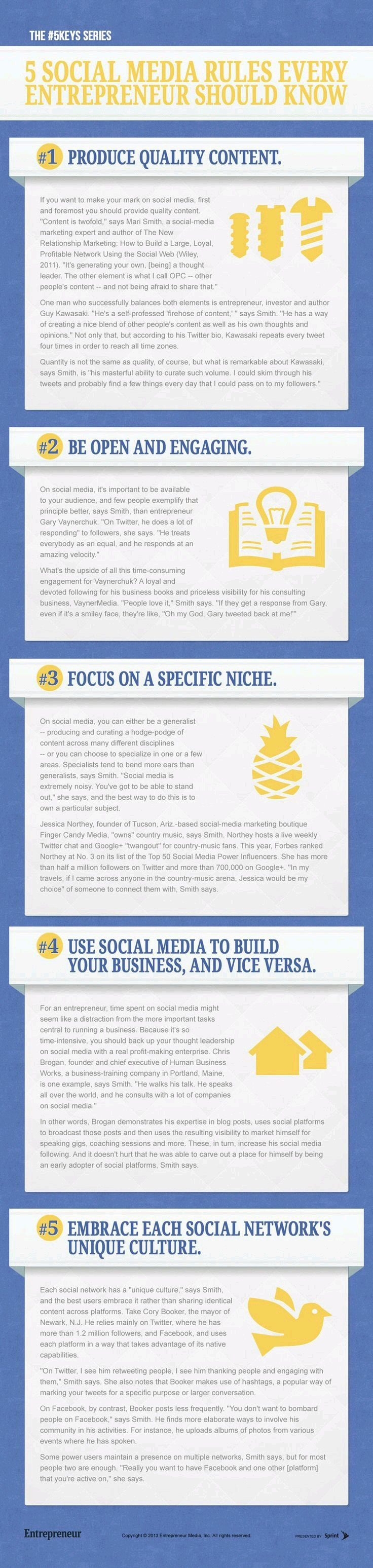 5 Social Media Rules Every Entrepreneur should Know #infographic