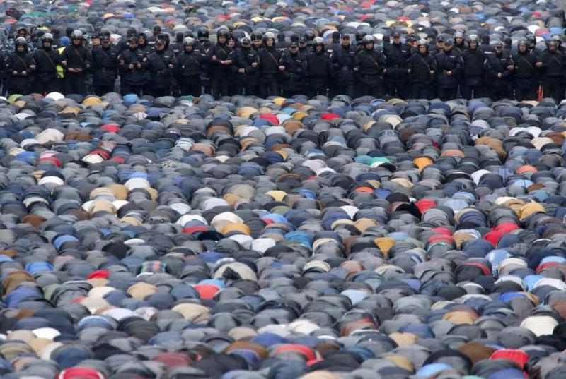 صلاة العيد في موسكو