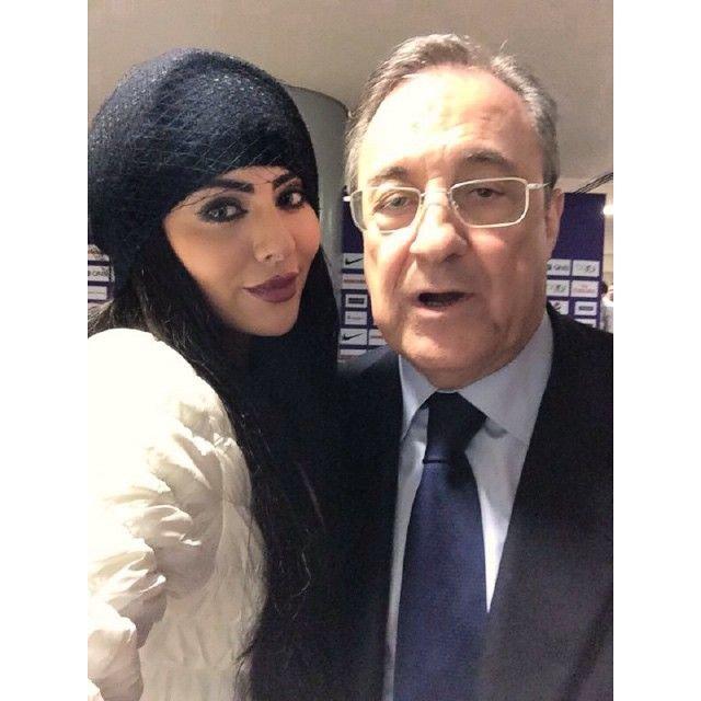 العراقية مريم حسين تستعد للكلاسيكو مع رئيس #ريال مدريد #هلامدريد