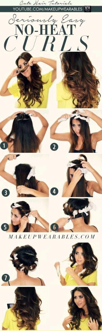 طريقة تجعيد الشعر بدون حرارة بالصور #تسريحات