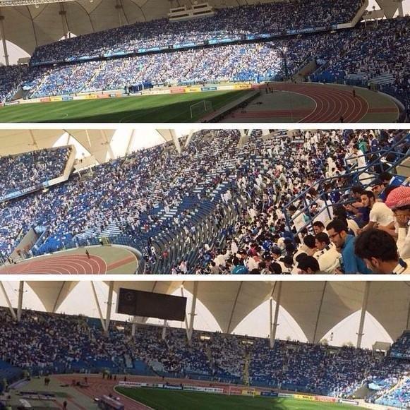 """ملعب الملك فهد \""""الدرة\"""" يمتلئ بالكامل قبل انطلاق مباراة #الهلال (صورة 1)"""